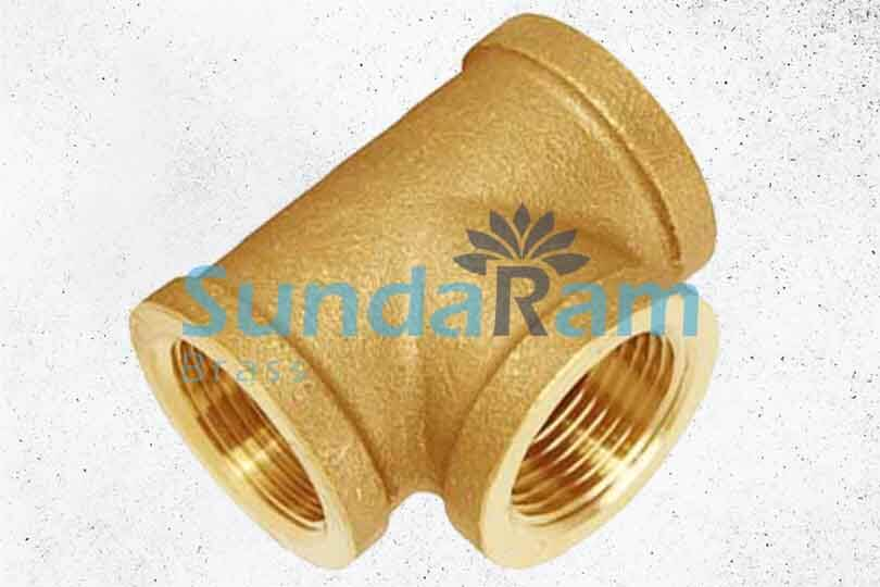 brass sanitary parts brass tees